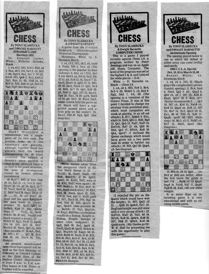 Dwight Barnette Four Move Checkmate Diagram Chess Column 001