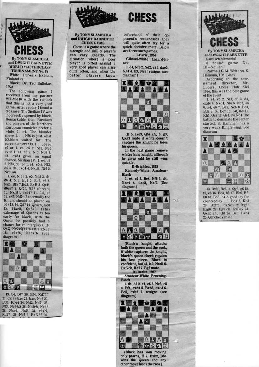 Dwight Barnette Four Move Checkmate Diagram Chess Column 008