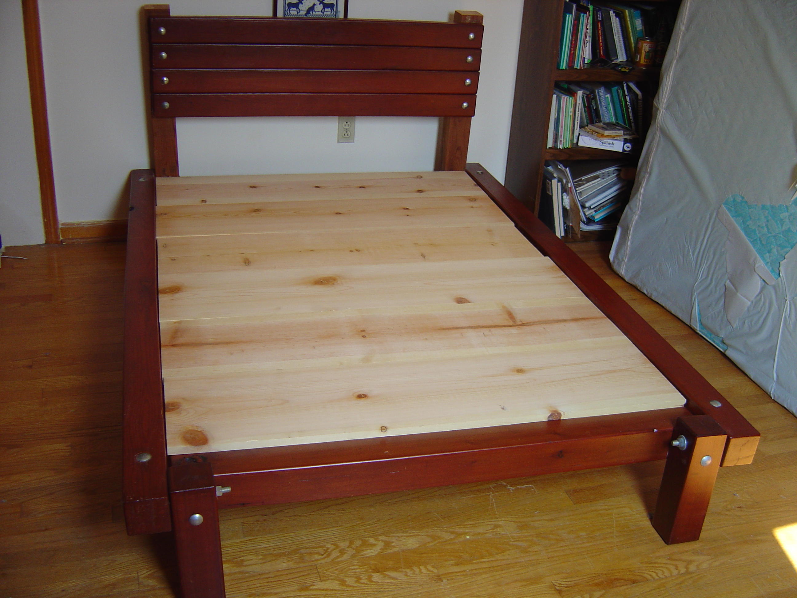 How To Build A Platform Bed With Stairs Platform bed - i designed and